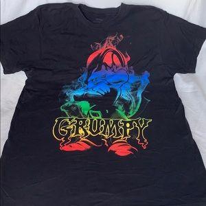 Disney Men's Rainbow Grumpy T-Shirt Size L
